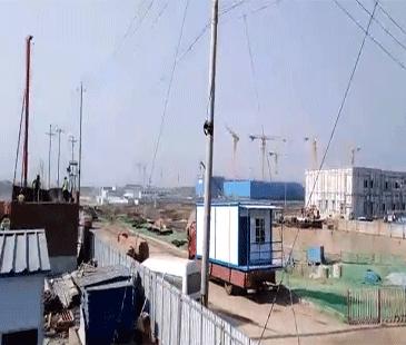 北京城建新機場項目58間萬博man房屋安裝中